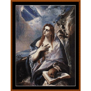 Mary Magdalene in Penitence - El Greco cross stitch pattern by Cross Stitch Collectibles | Crafting | Cross-Stitch | Religious