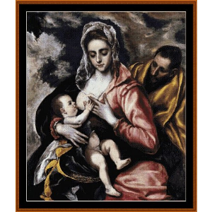 The Holy Family - El Greco cross stitch pattern by Cross Stitch Collectibles | Crafting | Cross-Stitch | Religious