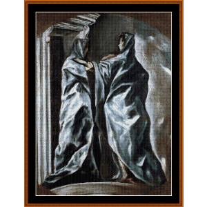 The Visitation - El Greco cross stitch pattern by Cross Stitch Collectibles | Crafting | Cross-Stitch | Religious