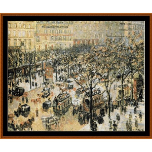Blvd. des Italiens, Morning Sunlight - Pissarro cross stitch pattern by Cross Stitch Collectibles | Crafting | Cross-Stitch | Other