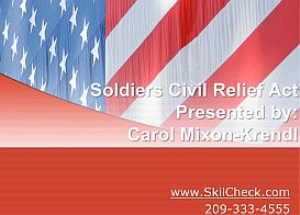 Soldiers Civil Relief Act - January 2015 | Movies and Videos | Educational