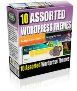 10 assorted wordpress themes