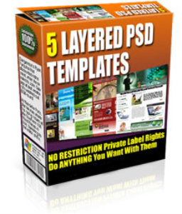 5 layered psd and html templates