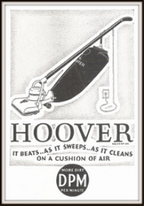 hoover floor cleaners magazine ads package