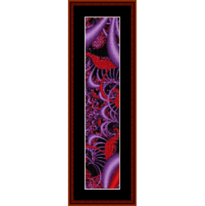 Fractal 201 Bookmark cross stitch pattern by Cross Stitch Collectibles | Crafting | Cross-Stitch | Other