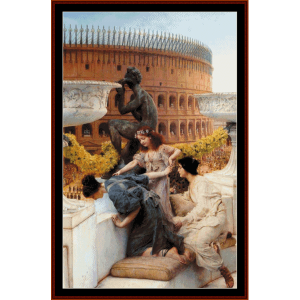 Coliseum - Alma Tadema cross stitch pattern by Cross Stitch Collectibles | Crafting | Cross-Stitch | Wall Hangings
