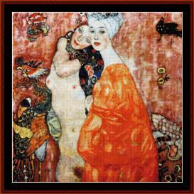 Le Amiche - Klimt cross stitch pattern by Cross Stitch Collectibles | Crafting | Cross-Stitch | Wall Hangings