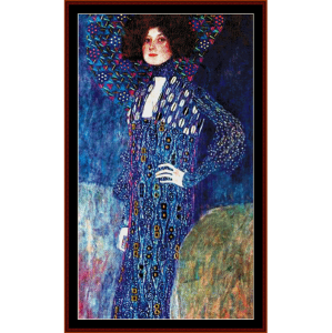 Emily Floge - Klimt cross stitch pattern by Cross Stitch Collectibles | Crafting | Cross-Stitch | Wall Hangings