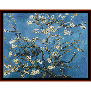 Branches with Almond Blossoms, Postersize - Van Gogh cross stitch download | Crafting | Cross-Stitch | Wall Hangings