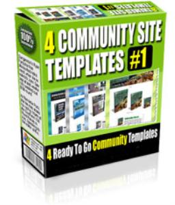 4 community site templates