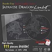 Japanese Dragon Line Art Collection | Other Files | Graphics