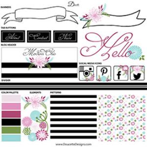 modern chic web and blog kit