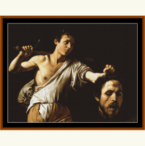 David and Goliath - Caravaggio cross stitch pattern by Cross Stitch Collectibles | Crafting | Cross-Stitch | Religious