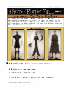 harry potter and the deathly hallows: part 1 the three brothers, short-sequence english (esl) lesson