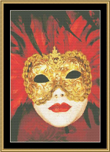 Mardi Gras Collection - Masks Of Mardi Gras II | Crafting | Cross-Stitch | Wall Hangings