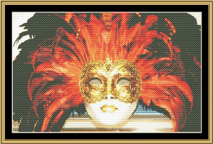 Mardi Gras Collection - Masks Of Carnaval II | Crafting | Cross-Stitch | Wall Hangings