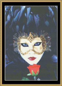 Mardi Gras Collection - Femme Fatale | Crafting | Cross-Stitch | Wall Hangings