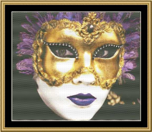 Mardi Gras Collection - Masks Of Mardi Gras I | Crafting | Cross-Stitch | Wall Hangings