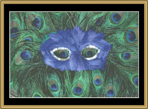 First Additional product image for - Mardi Gras Collection - Peacock Mask