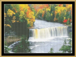 Peaceful Waterfall | Crafting | Cross-Stitch | Wall Hangings