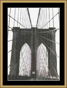 Brooklyn Bridge | Crafting | Cross-Stitch | Wall Hangings
