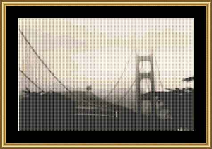 Golden Gate I | Crafting | Cross-Stitch | Wall Hangings