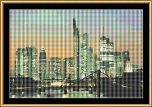 Frankfurt Skyline | Crafting | Cross-Stitch | Wall Hangings