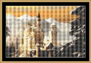 Schloss Neuschwanstein | Crafting | Cross-Stitch | Wall Hangings