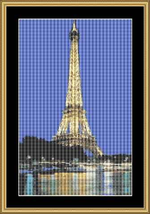 Eiffel Tower | Crafting | Cross-Stitch | Wall Hangings