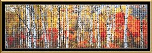 Birch Forest - French Alps | Crafting | Cross-Stitch | Wall Hangings