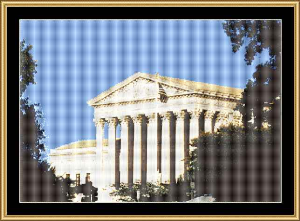 Supreme Court Building | Crafting | Cross-Stitch | Wall Hangings