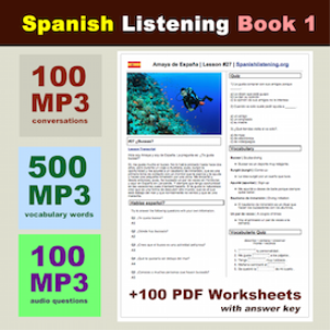 spanish listening book 1
