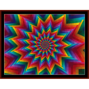 fractal 199 cross stitch pattern by cross stitch collectibles