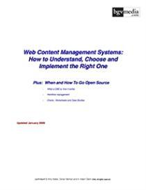 Web Content Management Systems - Full Report | Other Files | Documents and Forms