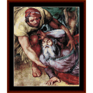 Conversion of Saul - Michelangelo cross stitch pattern by Cross Stitch Collectibles | Crafting | Cross-Stitch | Other
