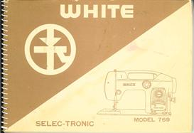 white selectronic sewing machine manual model 769
