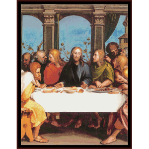 the last supper iii - religious cross stitch pattern by cross stitch collectibles