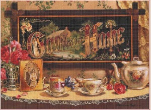 God bless our home | Crafting | Cross-Stitch | Wall Hangings