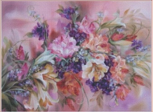 Kytice (The bouquet) 3 | Crafting | Cross-Stitch | Wall Hangings