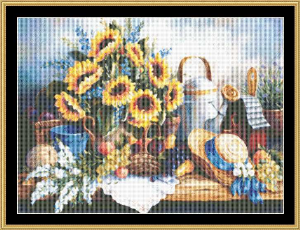 Sunflowers | Crafting | Cross-Stitch | Floral