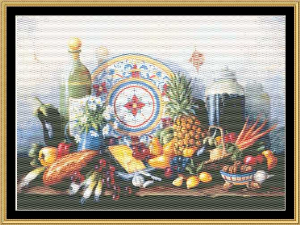 Still Life Series - Mexican Still Life II | Crafting | Cross-Stitch | Floral