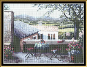 English Garden Collection - Sunset View Of Gauders | Crafting | Cross-Stitch | Holiday and Seasonal
