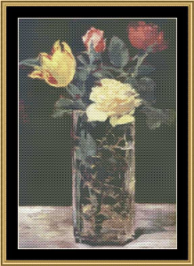 Great Masters Still Life Series - Vase Of Flowers - Manet | Crafting | Cross-Stitch | Wall Hangings