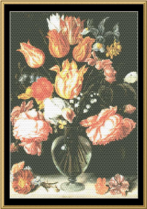 Great Masters Still Life Series - Tulips & Roses -Jacques De Gheyn | Crafting | Cross-Stitch | Wall Hangings