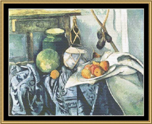 Great Masters Still Life Series - Still Life Auvergne's - Cezanne | Crafting | Cross-Stitch | Wall Hangings