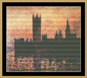 Great Masters Collection - House Of Parliament 1903 - Monet | Crafting | Cross-Stitch | Wall Hangings