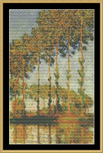 Great Masters Collection -Poplars Along The Rivers - Monet | Crafting | Cross-Stitch | Wall Hangings