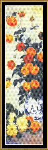 Great Masters Collection - Dahlias - Monet | Crafting | Cross-Stitch | Wall Hangings