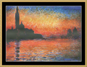 Great Masters Collection - Sunset In Venice - Monet | Crafting | Cross-Stitch | Wall Hangings
