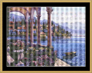 Lake Como Glow | Crafting | Cross-Stitch | Wall Hangings
